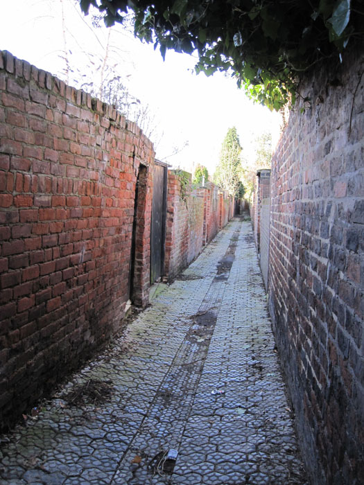 Alleyway on the way to the Grange