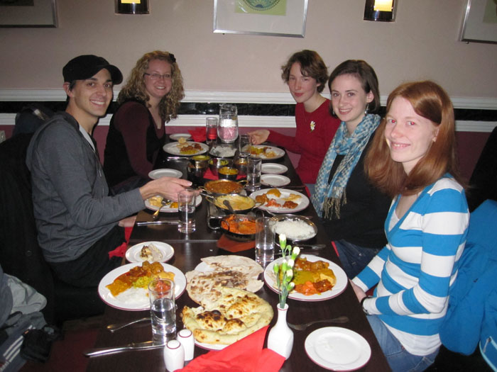 Eating Indian food at the Viceroy of India