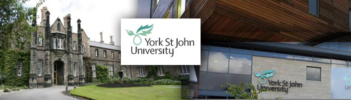 The campus and logo of York St John University