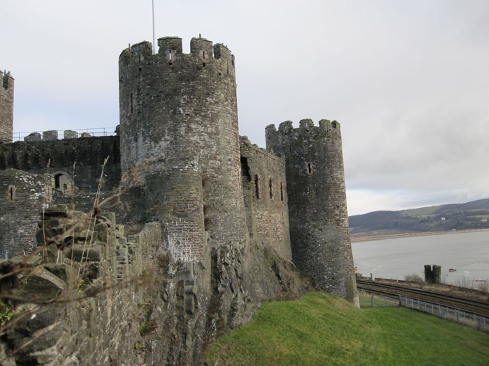 Conwy Castle from the city walls