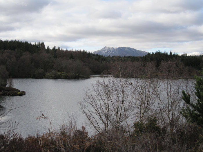 Elsie Lake (Llyn Elsie) nestled on a mountain plateau