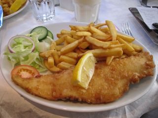 Perhaps the most internationally-recognized British food - fish and chips!