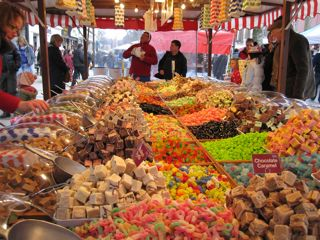 Confectionery - sweets abound at this candy stand in York
