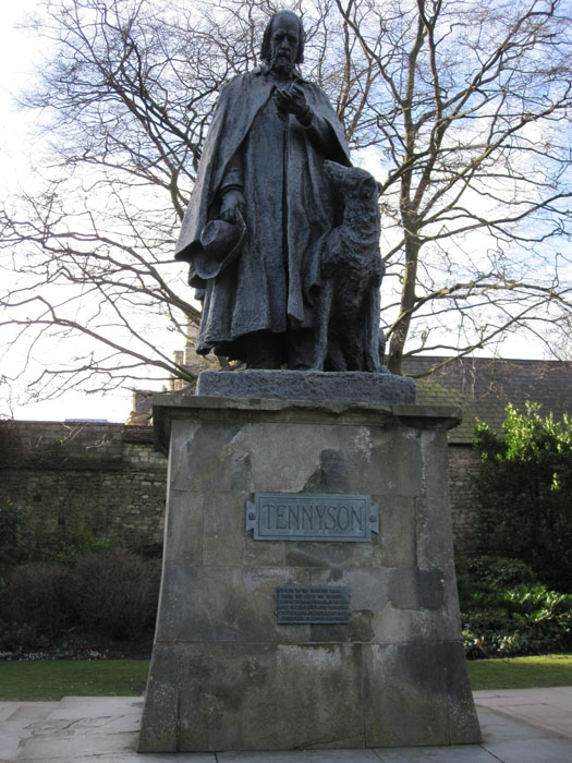 Memorial statue to Alfred Lord Tennyson, who grew up in Lincolnshire