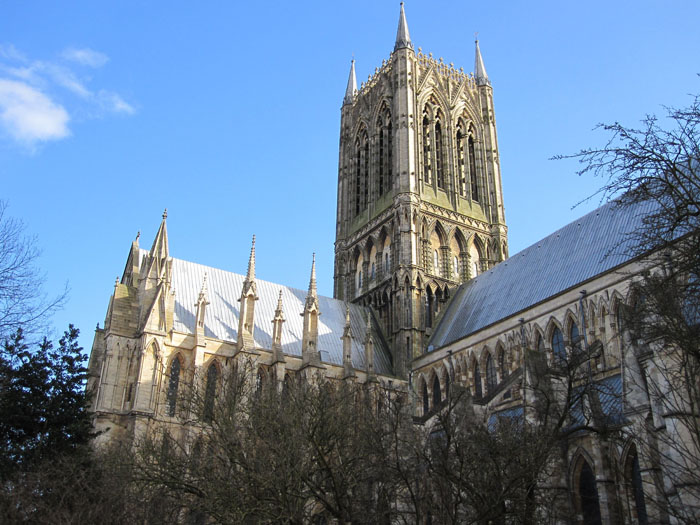 Another angle of the Lincoln Cathedral