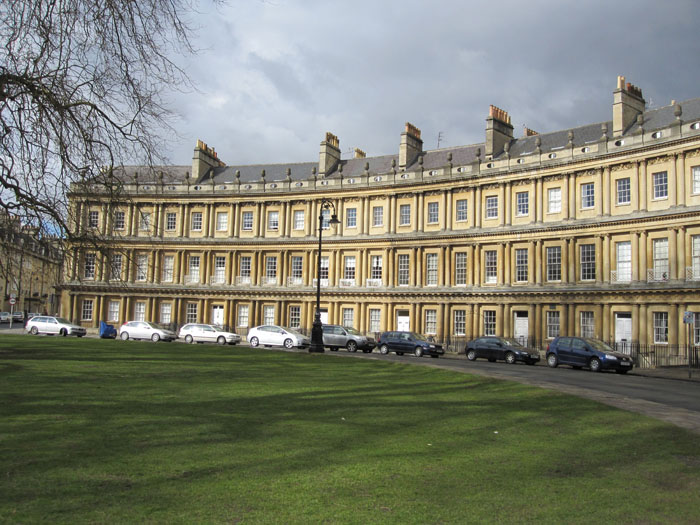 The Circus: where very rich people in Bath live