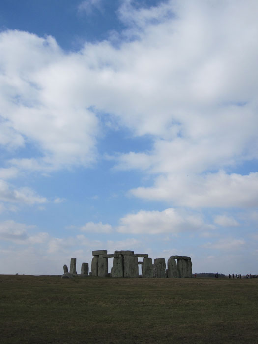 Big sky over Salisbury Plain and Stonehenge
