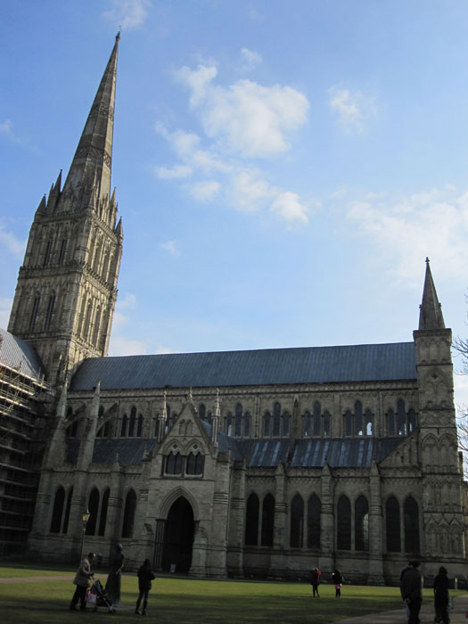Salisbury Cathedral and its famous spire