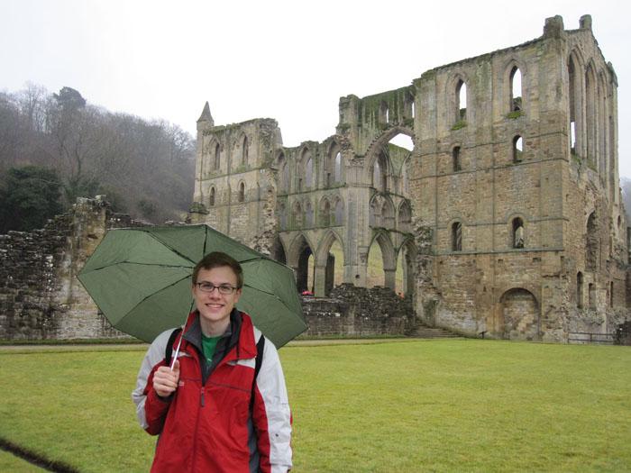 Under my umbrella, -ella, -ella, eh, eh, eh... at Rievaulx Abbey!