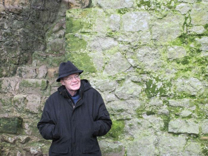 Our professor, Dean Ward, at Helmsley Castle