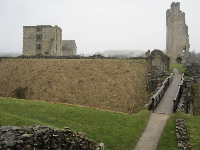 The grounds of Helmsley Castle