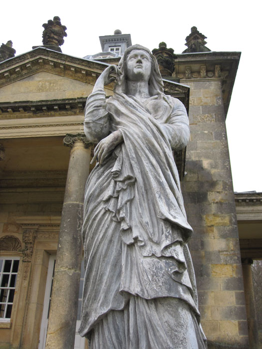 Statue at the Temple of the Four Winds, Castle Howard