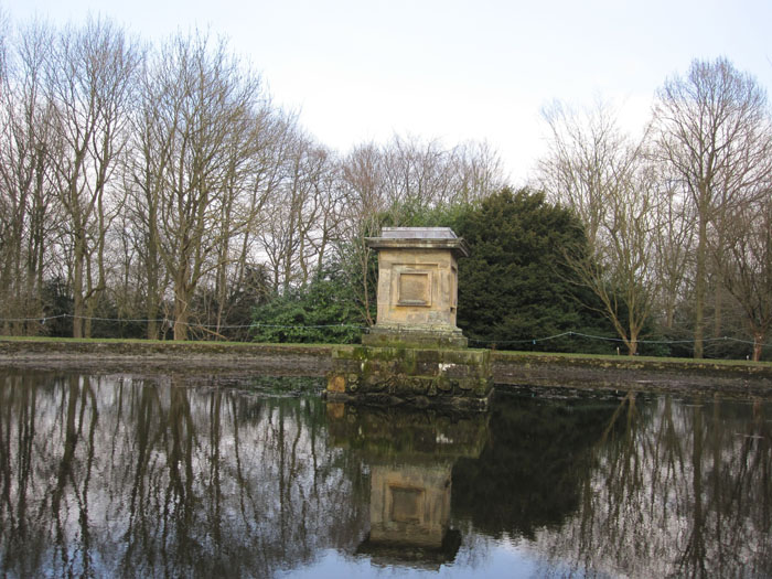Reflective Reservoir at the top of the Polar Bear Walk at Castle Howard