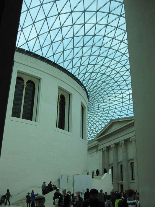 The stunning ceiling of the British Museum