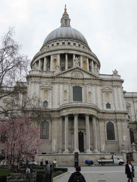 The majestic St Paul's Cathedral is a dominating feature along the Thames