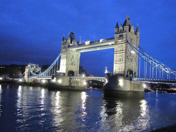 Tower Bridge at night (NOT London Bridge!)