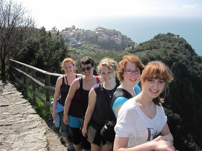 My five Italian friends for the week, from L-R: Mary, Teresa, Jenica, Melissa, and Sanna