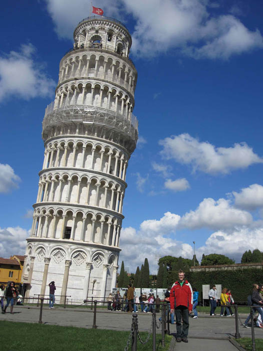 Me standing by the Leaning Tower of Pisa