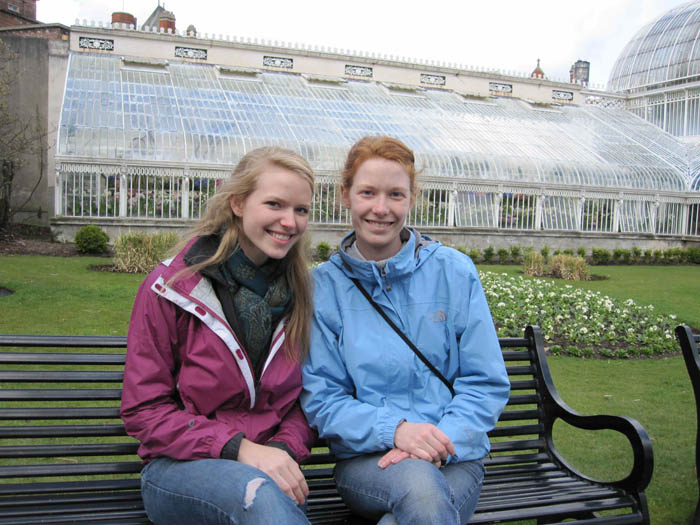 Sarah and Mary B. in the Belfast Botanic Gardens