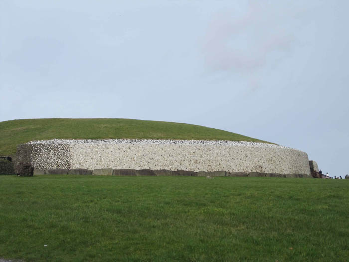 The white quartz walls of Newgrange passage tomb