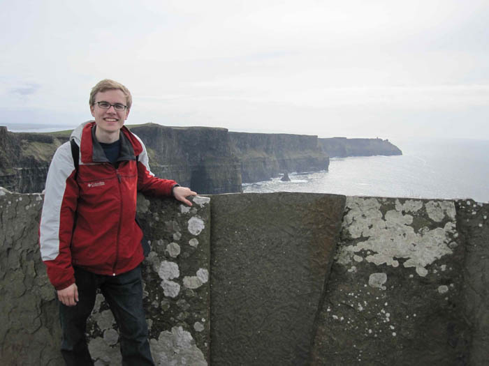 Me at the Cliffs of Moher - 270 meters up!