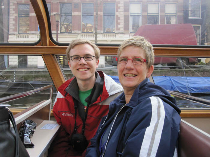 My Tante Tannie and I on the canal boat ride