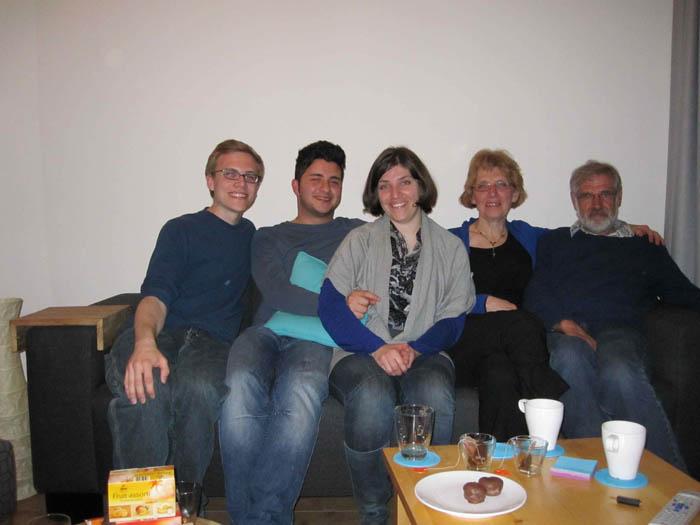 L-R: Me, Reza, Ciska, Tante Hennie, Oom Wim in Ciska's house