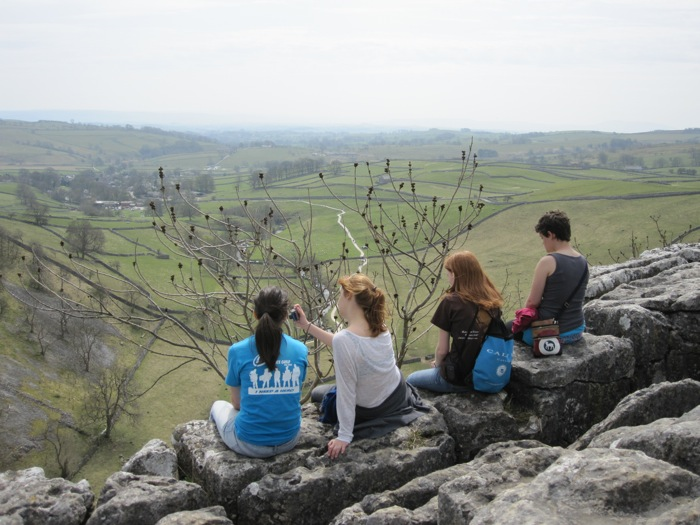 Jennifer C., Sanna, Mary, and Teresa, the cliff dwellers