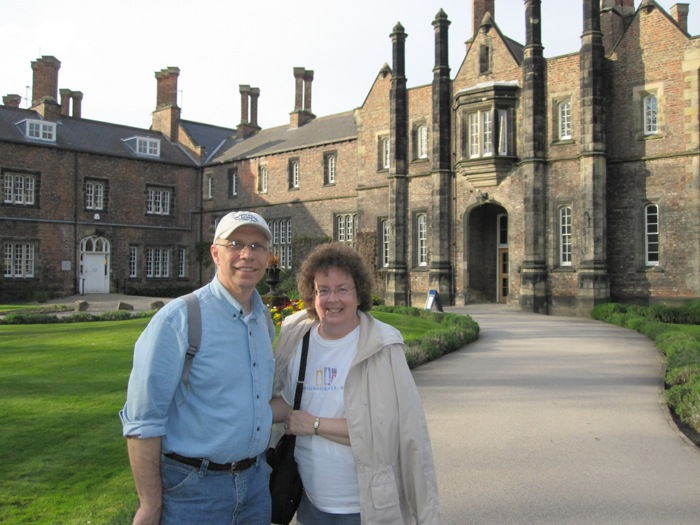 My parents outside the Quad at York St John University