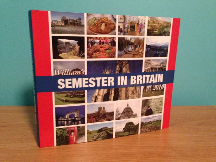 William's Semester in Britain book, published with Blurb.com