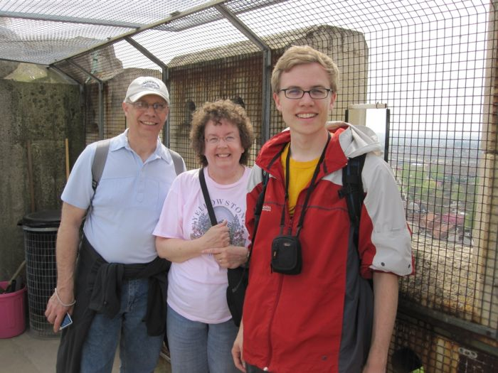 With my parents at the top of York Minster
