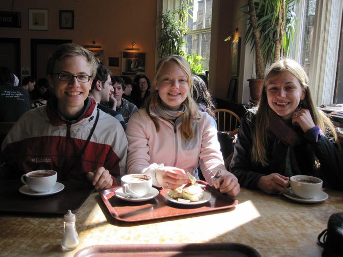 Natasha, Erin, and me at the Elephant House Cafe