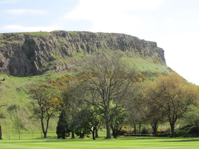 View of Arthur's Seat from Holyroodhouse