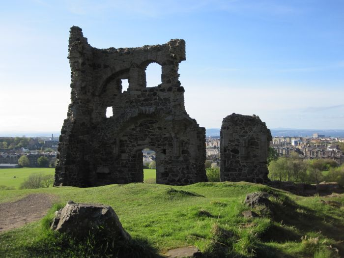 Ruins of St Anthony's Chapel on the slopes of Arthur's Seat