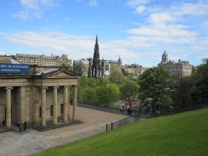 National Gallery of Scotland, Scott Monument, and Balmoral Hotel, Edinburgh