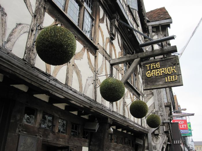 The Garrick Inn, the locale where we had dinner in Stratford-upon-Avon