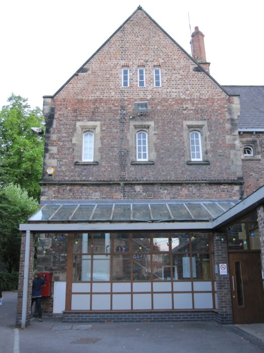 The building where Dean's office is, one of the top windows
